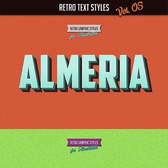 10 Retro Text Styles vol. 05