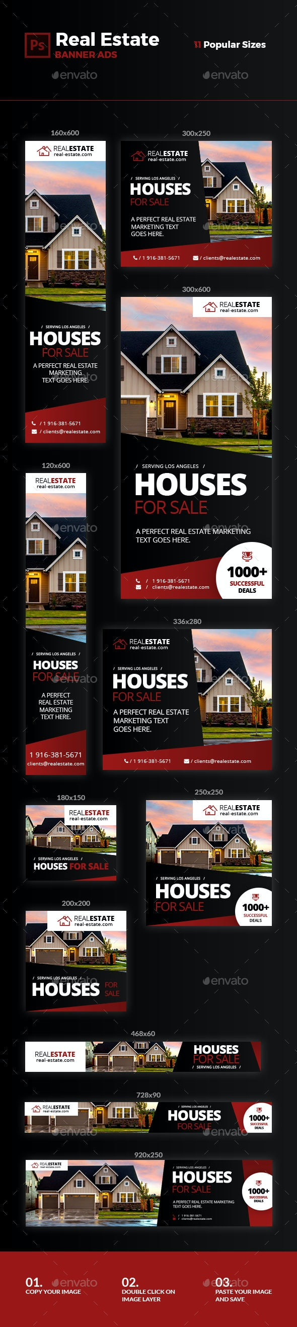Real Estate Ad Banners #3 - Banners & Ads Web Elements
