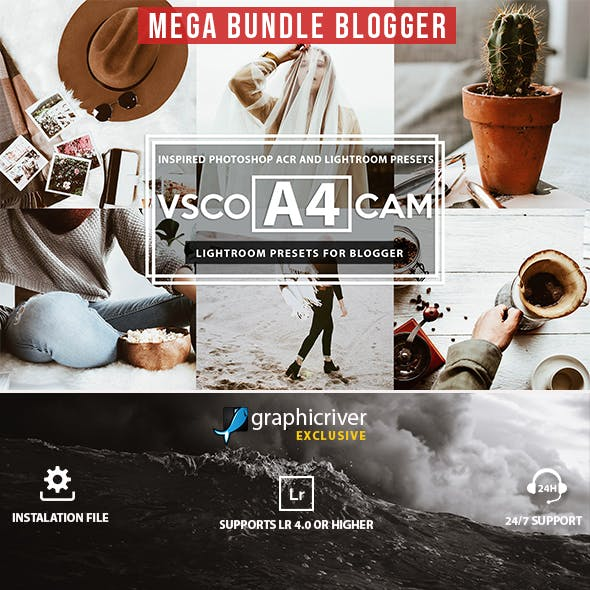 Mega Bundle Blogger Lightroom Presets