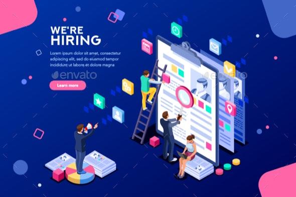 Job Presentation Web Page Banner - Concepts Business