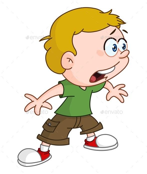 Shocked Kid - People Characters