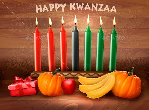 Happy Holiday Kwanzaa Background - Miscellaneous Seasons/Holidays