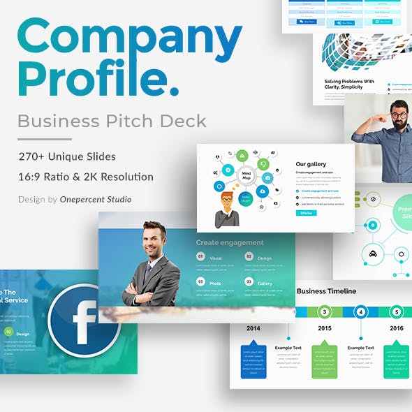 Company Profile Pitch Deck Powerpoint Template