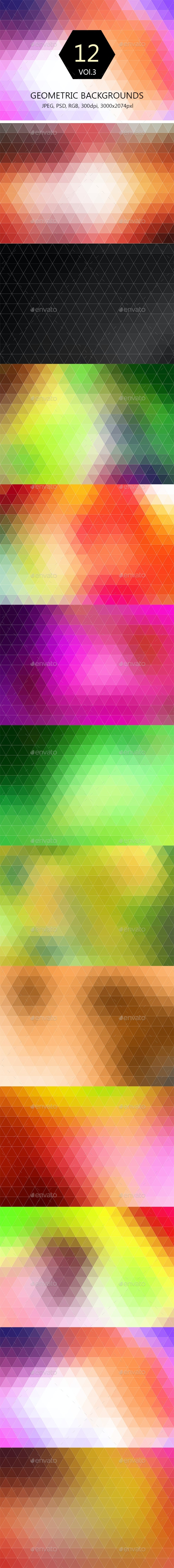 12 Geometric Backgrounds Vol.3  - Abstract Backgrounds