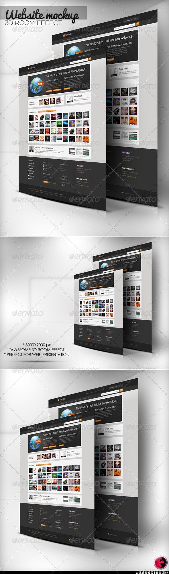 3D Room WEB Mock-Up - Website Displays
