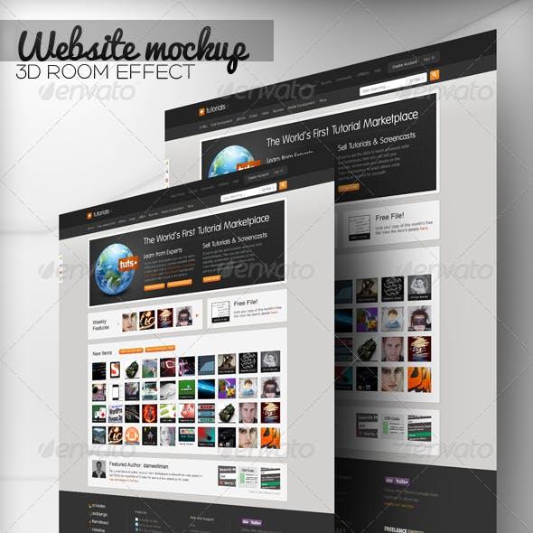 3D Room WEB Mock-Up