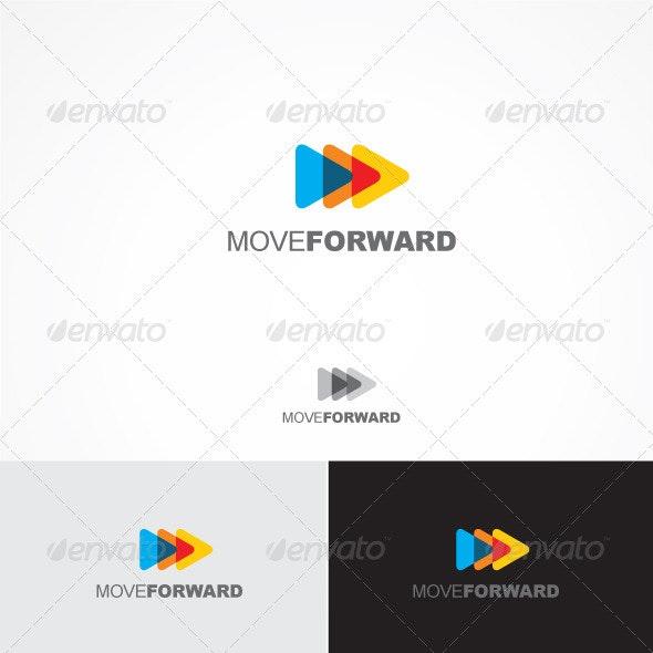 Move Forward - Vector Abstract