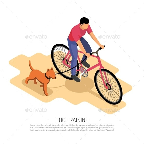Cynologist Isometric Composition - Animals Characters