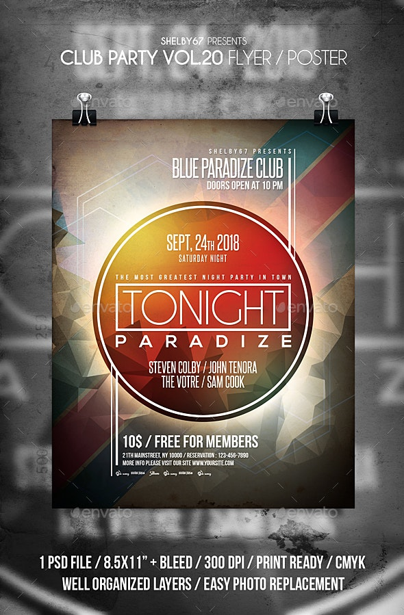 Club Party Flyer / Poster Vol 20 - Clubs & Parties Events