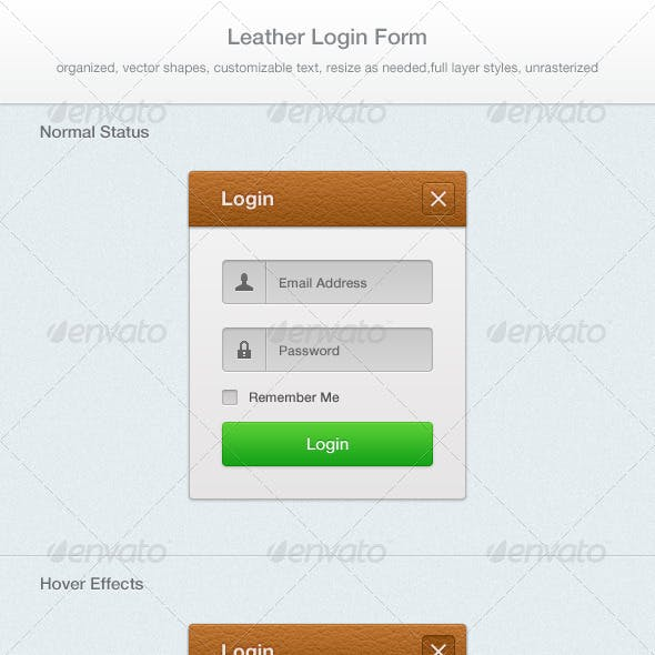 Leather Login Form