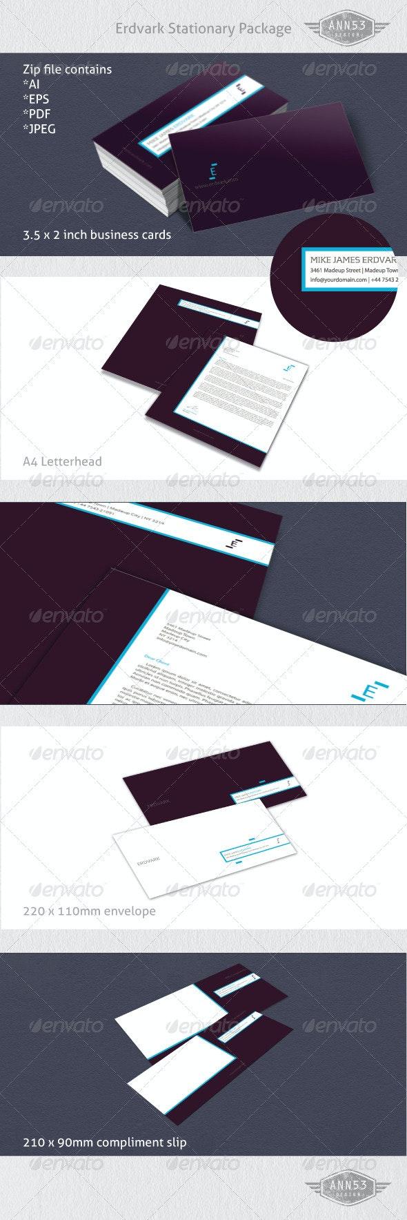 Erdvark Stationery - Business Cards Print Templates