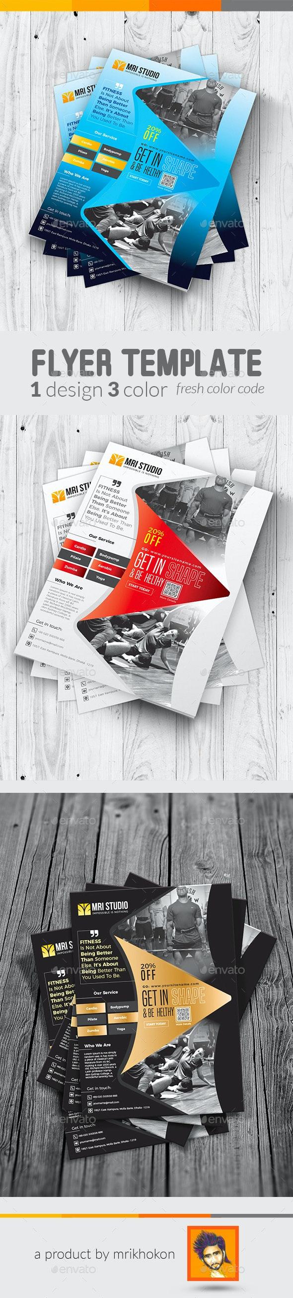 Fitness Flyer / Gym Flyer Template - Flyers Print Templates