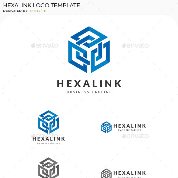 Intertwined Box Hexagon Logo