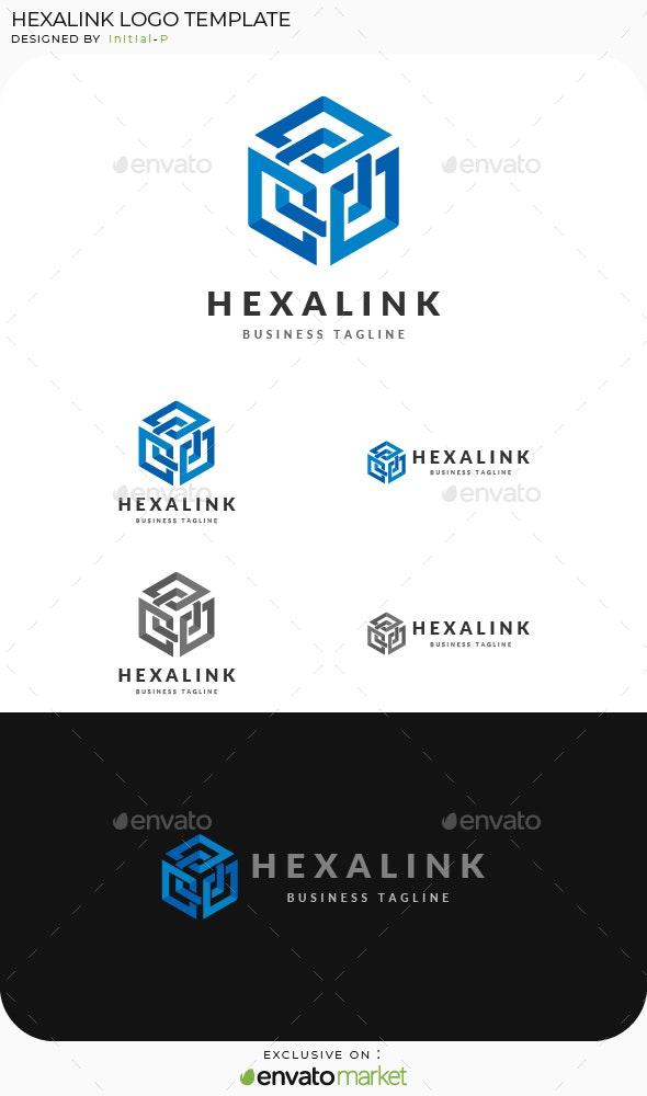 Intertwined Box Hexagon Logo - Symbols Logo Templates
