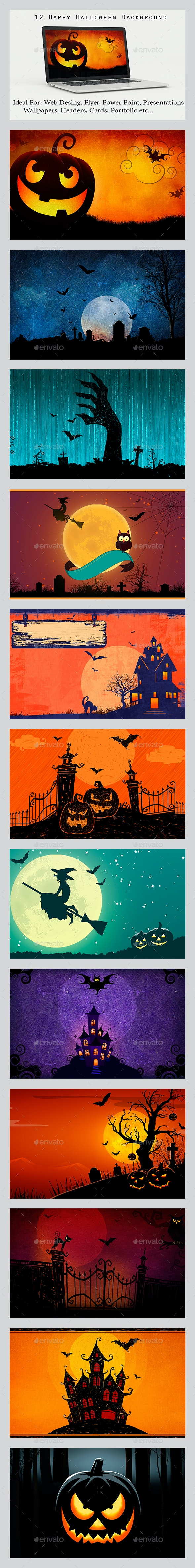 12 Happy Halloween Background - Backgrounds Graphics
