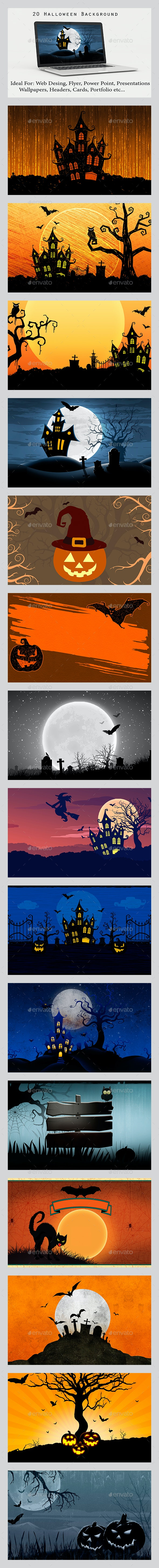 20 Halloween Background - Backgrounds Graphics