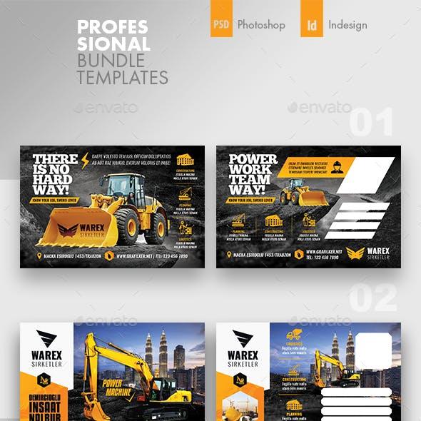 Construction Postcard Bundle Templates