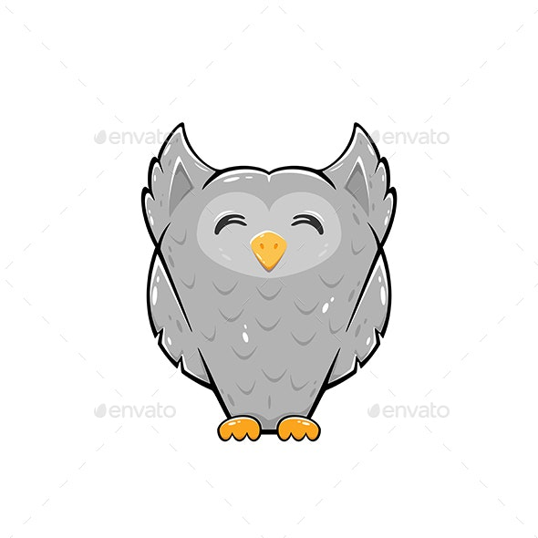 Happy Owl - Animals Characters