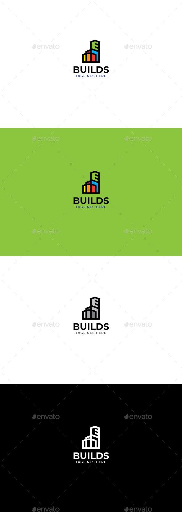 Buildings logo template