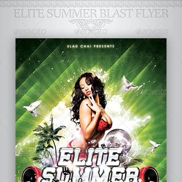 Elite Summer Blast Flyer Template