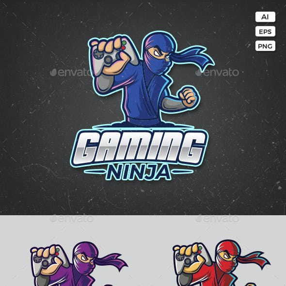 Gaming Ninja Logo Template