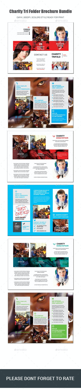 Charity Tri Folder   Brochure Bundle - Brochures Print Templates