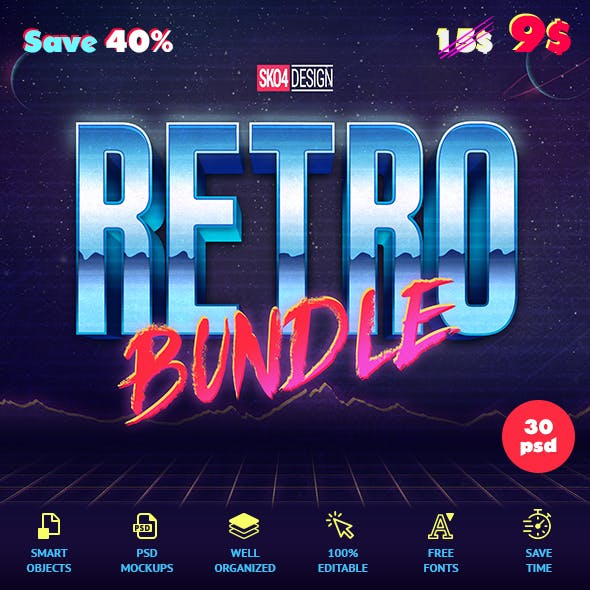 80s Retro Bundle - Text Effects