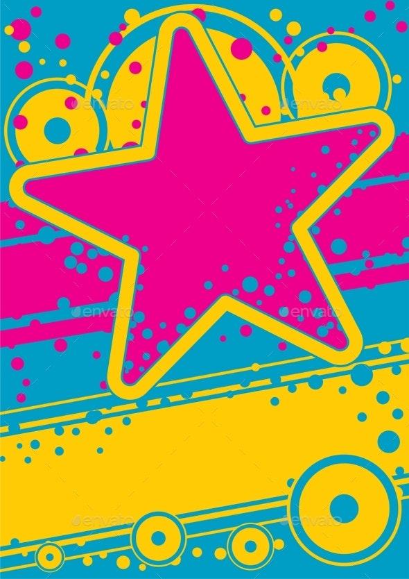 Retro Poster - Backgrounds Decorative