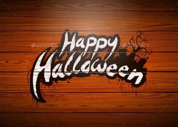 Happy Halloween Vector Illustration - Halloween Seasons/Holidays