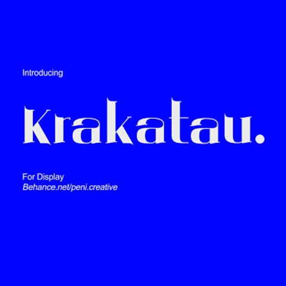 Krakatau - Display Font