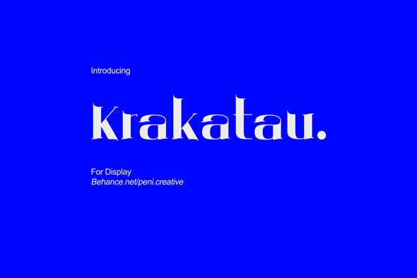 Krakatau - Display Font - Condensed Serif