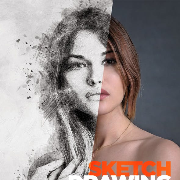 Sketch Drawing - Photoshop Action