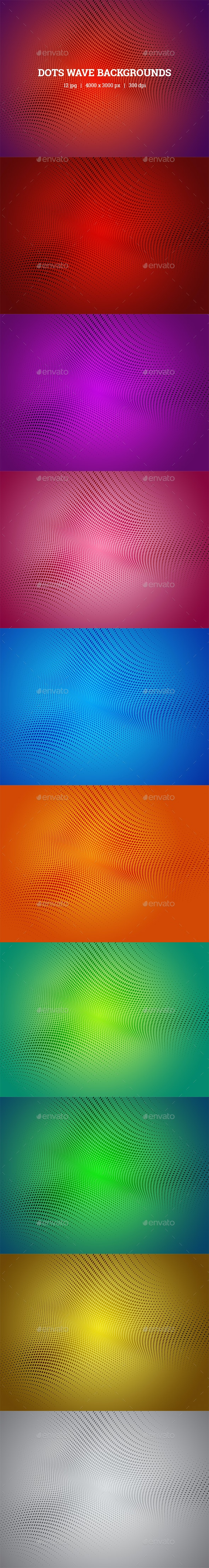 Dots Wave Backgrounds - Backgrounds Graphics