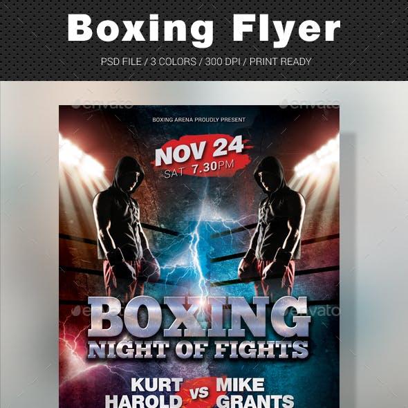 Boxing Muay Thai Flyer
