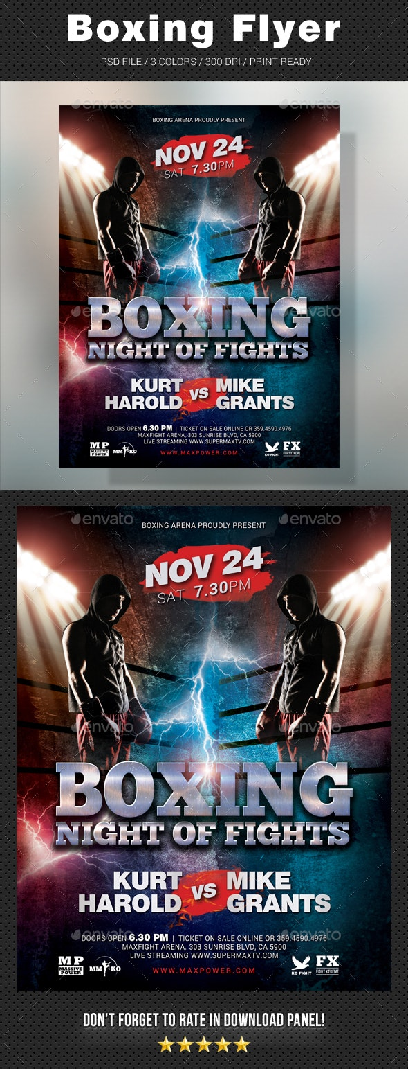 Boxing Muay Thai Flyer - Sports Events