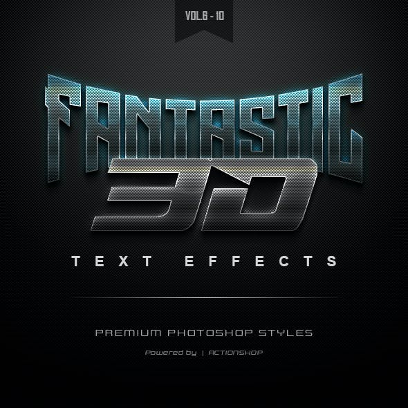 3D Text Effects Bundle Two