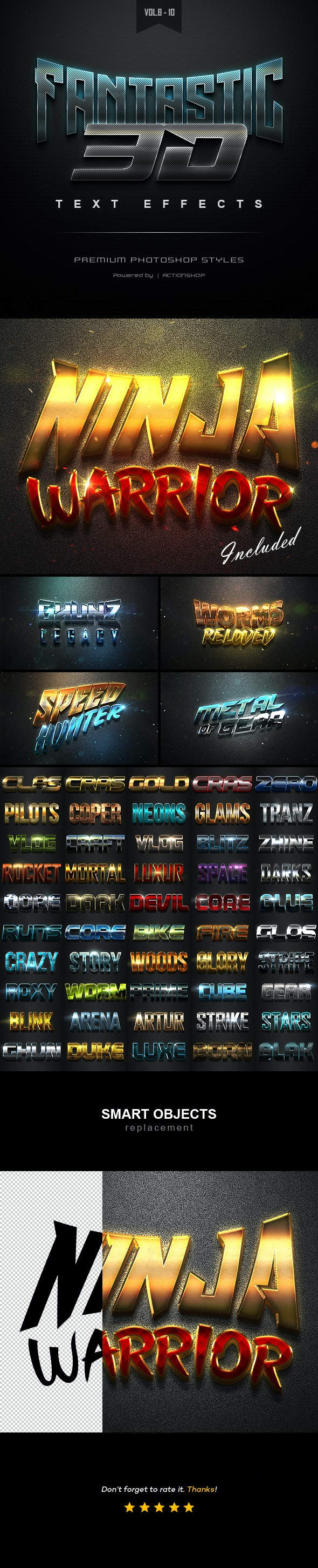 3D Text Effects Bundle Two - Text Effects Styles