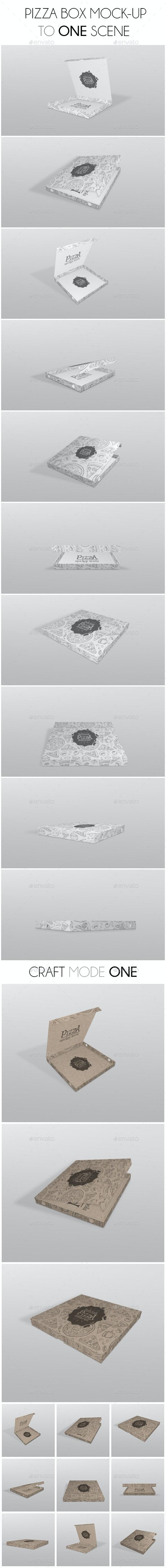 Pizza Box Mockup - Product Mock-Ups Graphics
