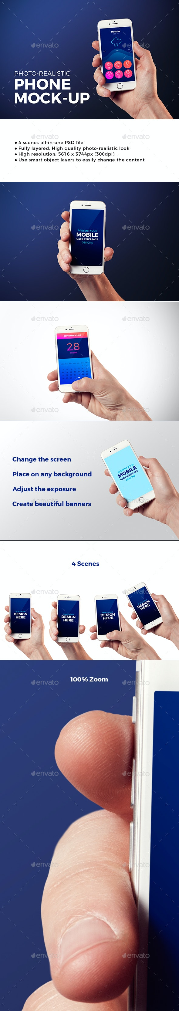 Isolated Phone Mock-up - Mobile Displays