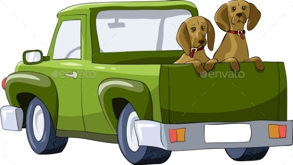 Dogs in the Car - Animals Characters