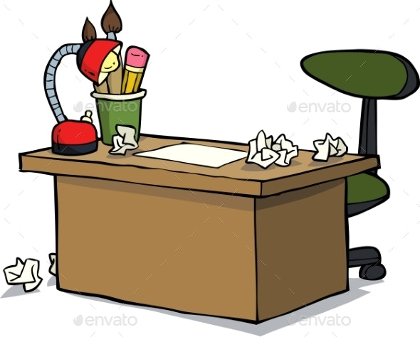Cartoon Designer Table - Man-made Objects Objects