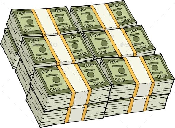 Pile of Cash - Miscellaneous Vectors