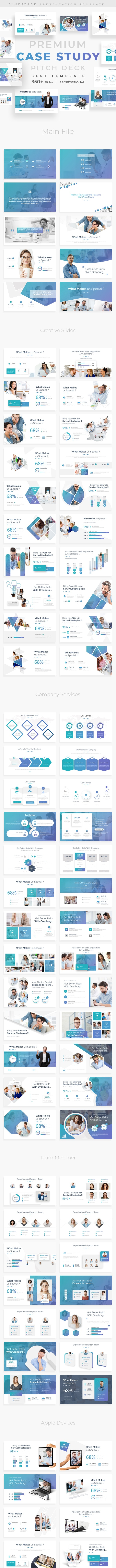Case Study Pitch Deck Powerpoint Template - Business PowerPoint Templates