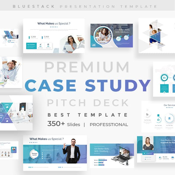Case Study Pitch Deck Powerpoint Template