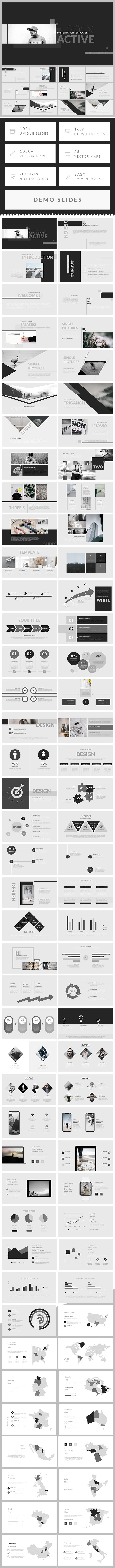 Active - PowerPoint Presentation Template - Business PowerPoint Templates