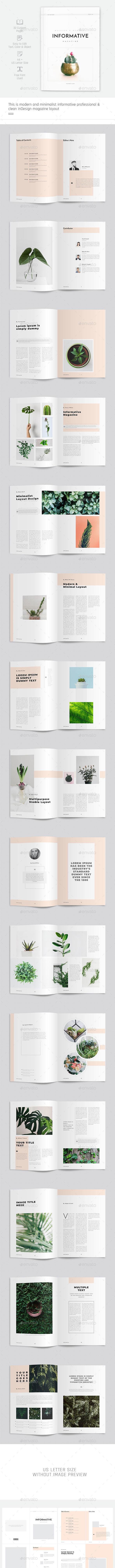 Minimal Informative Magazine - Magazines Print Templates