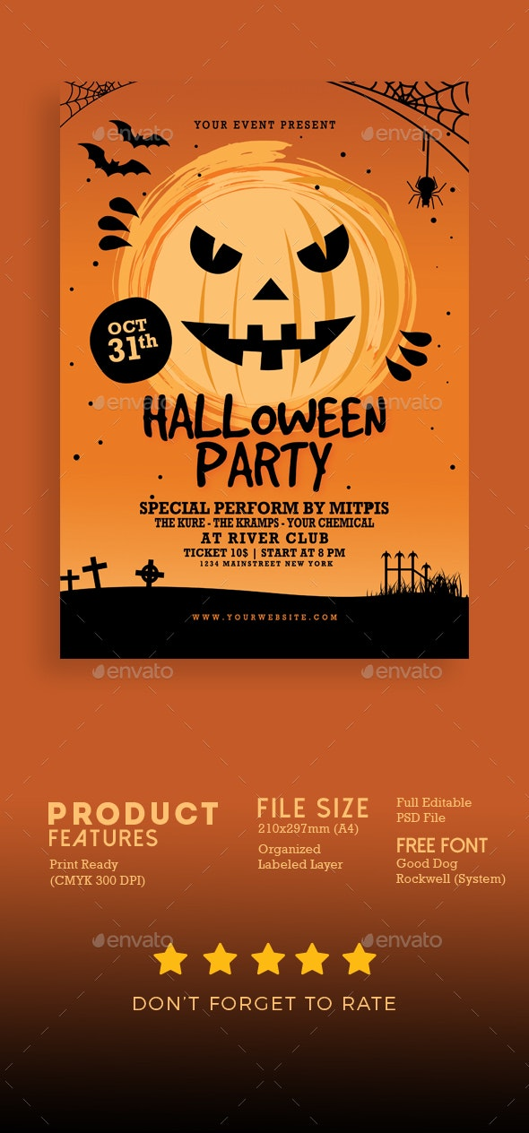 Halloween Party Flyer - Events Flyers
