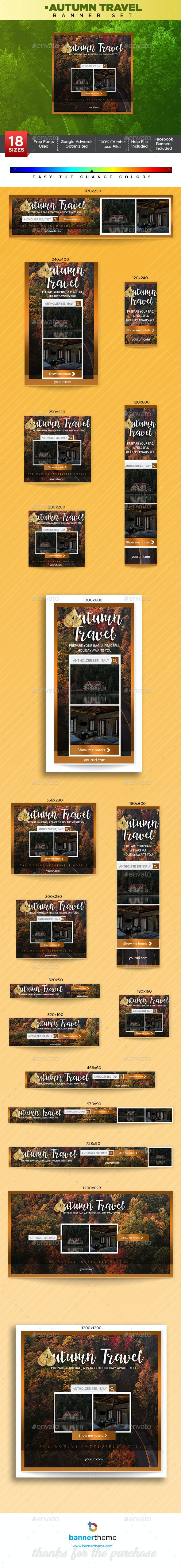 Autumn Travel Banner - Banners & Ads Web Elements