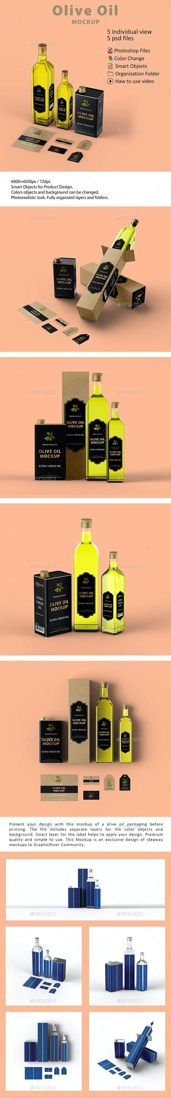 Olive Oil Packaging Mockup - Food and Drink Packaging