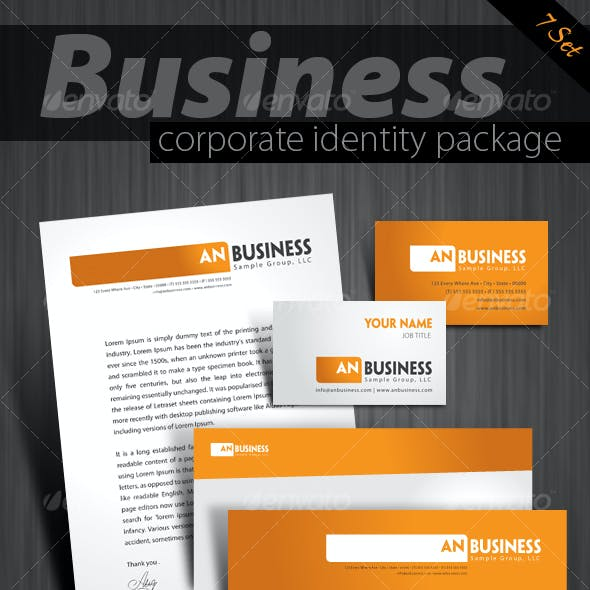 7-pack High quality print ready corporate identity